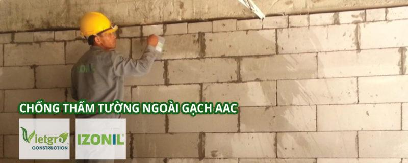 chống thấm tường ngoài gạch aac