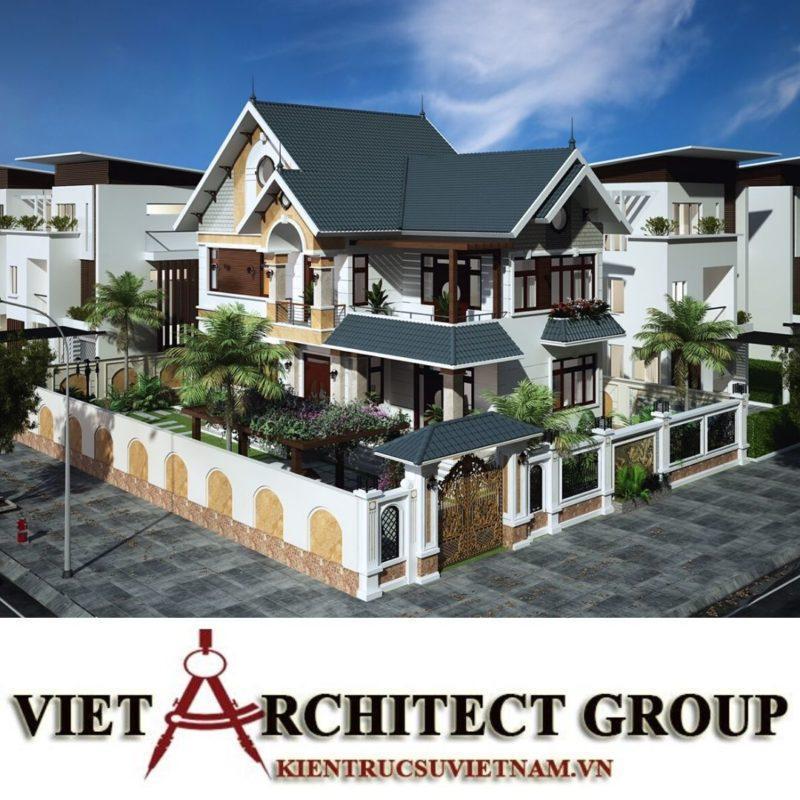 Công trình thiết kế biệt thự 2 tầng mái thái