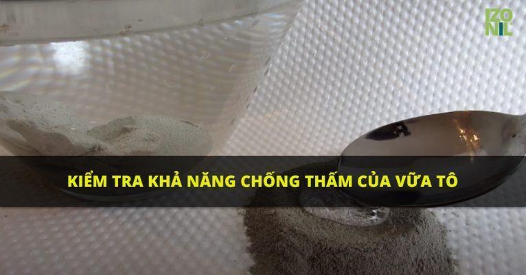 Video kiểm tra khả năng chống thấm của Vữa tô