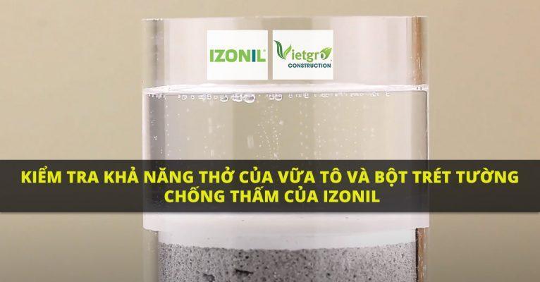 Kiểm tra khả năng thở của Vữa tô và Bột trét tường chống thấm của IZONIL